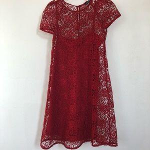 Zara Poppy Red Lace Dress